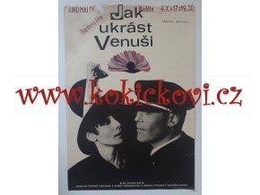 FILMOVÝ PLAKÁT A3 - JAK UKRÁST VENUŠI - AUDREY HEPBURN - 1967