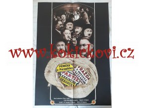 FILMOVÝ PLAKÁT A1 - 3 FILMY Z CYKLU HŘÍŠNÍ LIDÉ MĚSTA PRAŽSKÉHO - 1971 - OBŘÍ VELIKOST