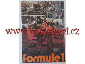 FILMOVÝ PLAKÁT A3 - FORMULE 1 JAN TOMÁNEK 1978
