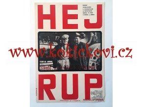 FILMOVÝ PLAKÁT - HEJ RUP - Voskovec - Werich - 1966