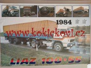 LIAZ 100 - 55 / KALENDÁŘ 1984 - REKLAMNÍ PLAKÁT - OBŘÍ ROZMĚR - 86*59 CM