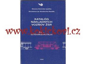 Katalóg nákladných vozňov ŽSR - KATALOG NÁKLADNÍCH VOZŮ  ŽSR (SLOVENSKY, NĚMECKY)