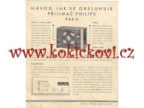 PHILIPS 944 A - ORIGINÁLNÍ NÁVOD K OBSLUZE - 1934/35
