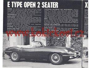 Jaguar Range - E, E 2+2, XJ6 - reklamní prospekt