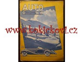 ČASOPIS AUTO ČÍSLO 19/1937 TISK MELANTRICH - AUTOKLUB REPUBLIKY ČESKOSLOVENSKÉ