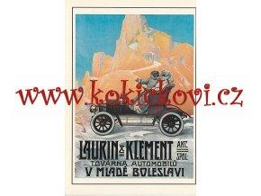 LAURIN A KLEMENT - REKLAMNÍ MOTIV 1913 - ZE SBÍREK UMPRUM ROZMĚRY 14,5*20,5 CM