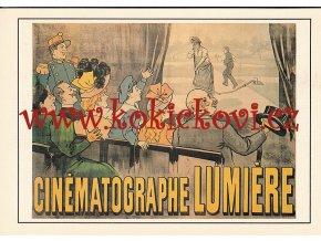 M. AUZOLLE: CINÉMATOGRAPHE LUMIÉRE 1896 - REKLAMNÍ MOTIV - ZE SBÍREK NTM PRAHA ROZMĚRY 14,5*20,5 CM