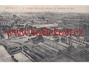 PRAHA ČAKOVICE - POHLEDNICE CCA 1910 - C.k. výsadní čakovický cukrovar fy Schoeller
