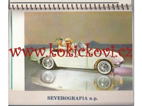 KALENDÁŘ ANGLIČÁNKŮ - SEVEROGRAFIA N.P. 1970 - INTAKTNÍ STAV - RARITA