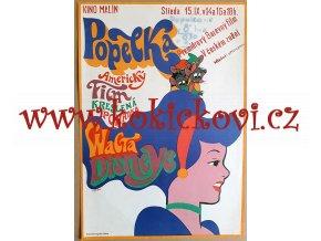 FILMOVÝ PLAKÁT A3 - POPELKA - WALT DISNEY - 1970