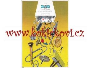 Vojtěch Kubašta - reklamní plakát A4  KOH-I-NOOR - LIGNA - HARDMUTH