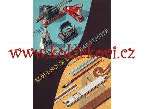 Vojtěch Kubašta - reklamní plakát A4  KOH-I-NOOR - PZO - LIGNA - HARDMUTH