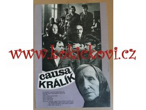 FILMOVÝ PLAKÁT A3 - CAUSA KRÁLÍK