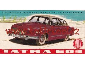 Tatra 603 - prospekt - 1959 - TEXTY ANGLICKY - ORIGINÁL