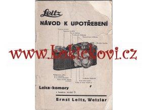 FOTOAPARÁT LEICA MODEL 3A NÁVOD K UPOTŘEBENÍ 68 STR. ČESKY