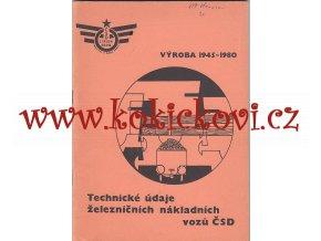 Technické údaje železničních nákladních vozů ČSD - výroba 1945-1980, 1981