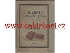 Černovický, Ludvík: Lukařství hospodářské i lesnické, 1922