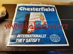 CHESTERFIELD, L&M - originální igelitová taška z Tuzexu (NENOŠENÁ)