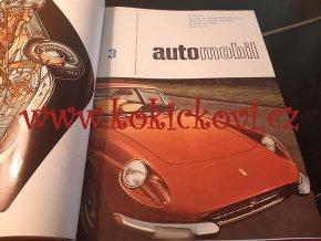 AUTOMOBIL 1968 ROČNÍK 12 JAWA TATRA PORSCHE ALFA ROMEO (VČETNĚ TYPOVÝCH LISTŮ)