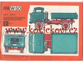 IFA W 50 - prospekt A4 - 4 STRANY - POMAČKÁNO