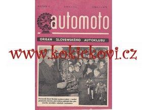 AUTOMOTO APRÍL 1950 - ČASOPIS SLOVENSKÉHO AUTOKLUBU - UVNITŘ NAPŘ. HORSKÝ AUTOBUS TATRA 500