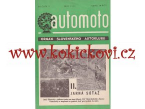 AUTOMOTO MÁJ 1950 - ČASOPIS SLOVENSKÉHO AUTOKLUBU
