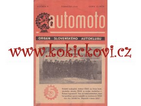 AUTOMOTO FEBRUÁR 1950 - ČASOPIS SLOVENSKÉHO AUTOKLUBU