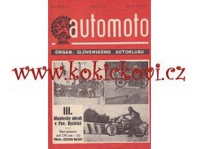 AUTOMOTO JÚN 1950 - ČASOPIS SLOVENSKÉHO AUTOKLUBU