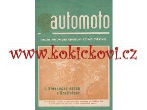 AUTOMOTO AUGUST 1950 - ČASOPIS SLOVENSKÉHO AUTOKLUBU -UVNITŘ JAWA 500