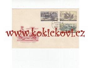 2 X FDC - ŠKODA 440 SPARTAK TATRA 603 - 1959, LAURIN & KLEMENT 1906 ČESKOSLOVENSKÁ POŠTA