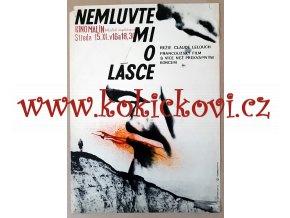 FILMOVÝ PLAKÁT A3 - NEMLUVTE MI O LÁSCE - 1966 - GALOVÁ-VODRÁŽKOVÁ