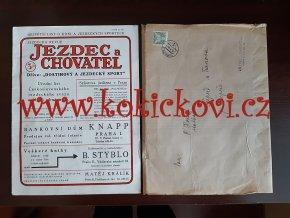 JEZDEC A CHOVATEL ČÍSLO 3 - LEDEN 1933 - A4 PĚKNÝ STAV