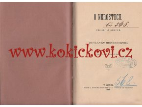 O NEROSTECH PRO ŠKOLY OBECNÉ - MINEAROLOGIE - PRAHA 1888
