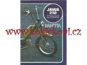 JAWA moped typ 210 automatic - Babetta - prospekt - 6 stran