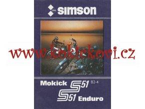Simson Mokick S 51 B2-4 S - 51 Enduro - prospekt - Mototechna 1985