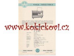 VIOLA - TESLA 1105 A - REKLAMNÍ LETÁK - TESLA PŘELOUČ