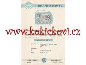 MÍR - TESLA 2800 B-2 - REKLAMNÍ LETÁK - TESLA PŘELOUČ
