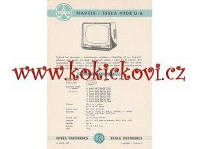 NARCIS - TESLA 4208 U-6 - REKLAMNÍ LETÁK - TESLA PARDUBICE