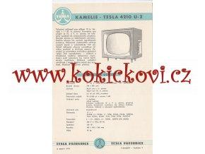 KAMELIE - TESLA 4210 U-2 - REKLAMNÍ LETÁK - TESLA PARDUBICE