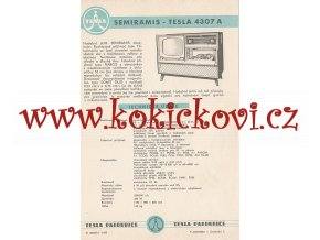 SEMIRAMIS - TESLA 4307 A - REKLAMNÍ LETÁK - TESLA PARDUBICE