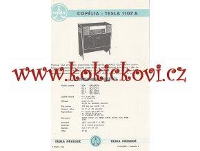 COPÉLIA - TESLA 1107 A - REKLAMNÍ LETÁK - TESLA PŘELOUČ