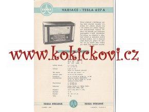 VARIACE - TESLA 627 A - REKLAMNÍ LETÁK - TESLA PŘELOUČ