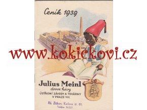 JULIUS MEINL - REKLAMNÍ CENÍK 1936 - A6 - 32 STRAN