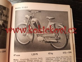 DER MOTOR KATALOG 100 MOPEDS - 1956 BAND 7 - katalog mopedů