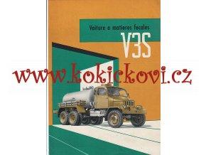 PRAGA V3S FEKÁLNÍ VŮZ FRANCOUZSKY - MOTOKOV 1957