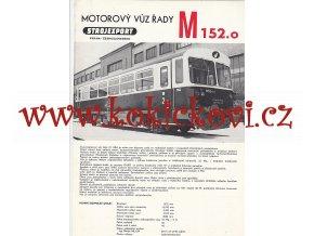 MOTOROVÝ VŮZ ŘADY M 152.0 - STROJEXPORT A4 - 4 STRANY - PROSPEKT