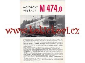 MOTOROVÝ VŮZ ŘADY M 474.0 - VAGÓNKA STUDÉNKA N.P. TATRA  A4 - 4 STRANY - PROSPEKT