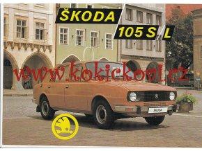 ŠKODA 105 S, 105 L - PROSPEKT - MOTOKOV - TEXTY ČESKY