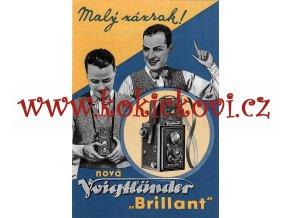 Voigtländer  V. Neubert a synové, Praha XVI. – Malý zázrak! Nová Voigtländer Brillant