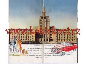 Hotel International - propagační prospekt k otevření hotelu - ČEDOK - cca 1956 - František Trmač a František Jeřábek